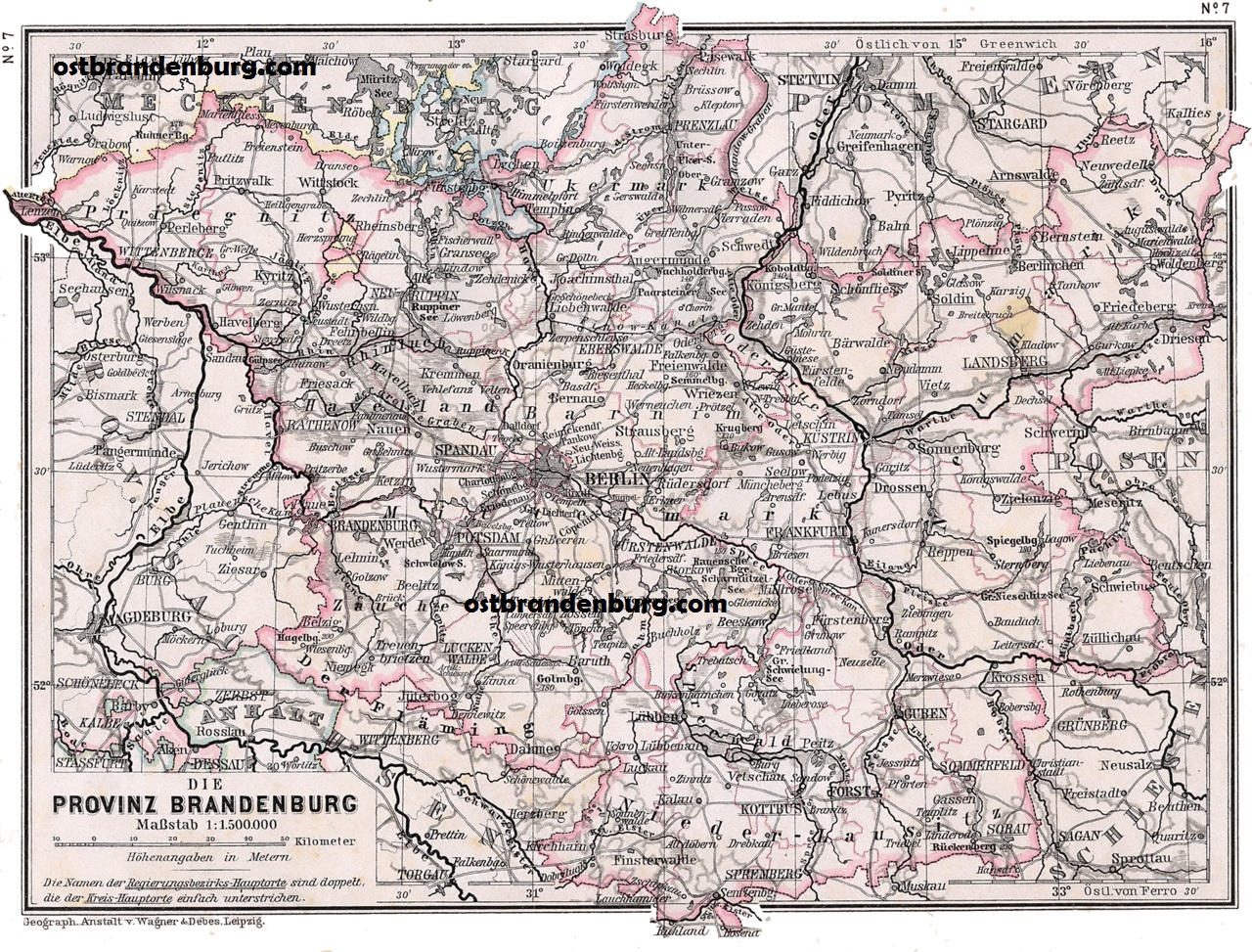 Map Of Old Germany.Old Maps Of Brandenburg Germany