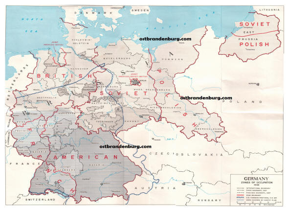 map germany 1945